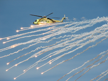 helicopter flares